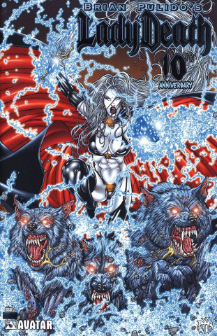 Lady Death: 10th Anniversary #1 (Platinum Foil Cover)