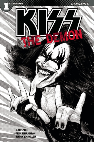 KISS: The Demon #1 (10 Copy Strahm B&W Cover)