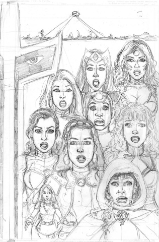 Sirens #4 (25 Copy Pencils Right Cover)