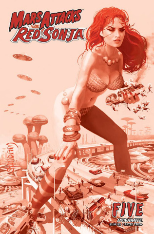 Mars Attacks / Red Sonja #5 (21 Copy Suydam Tint Cover)