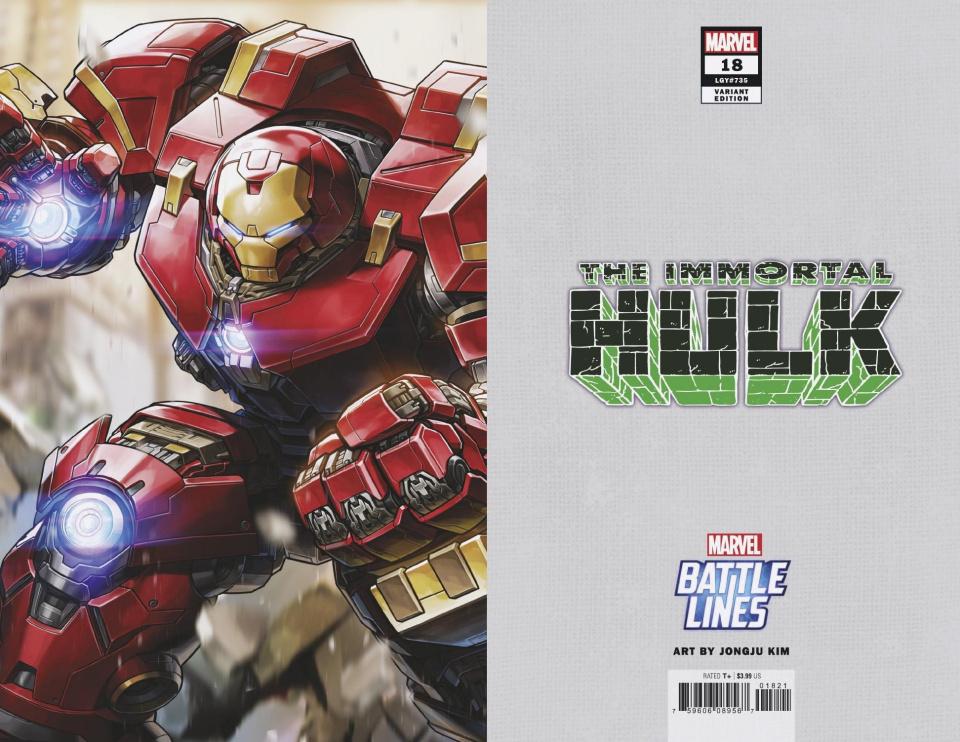 The Immortal Hulk #18 (Jongju Kim Marvel Battle Lines Cover)