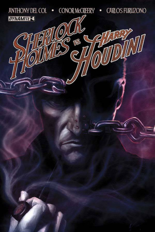 Sherlock Holmes vs. Harry Houdini #4 (Worley Cover)