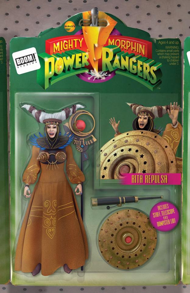 Mighty Morphin' Power Rangers #10 (Unlock Action Figure Cover)