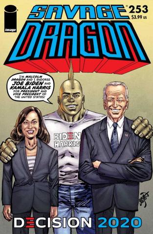Savage Dragon #253 (Biden / Harris Cover)
