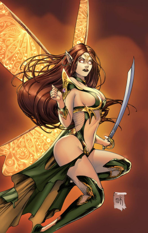 Grimm Fairy Tales: Neverland - Age of Darkness #1 (Krome Cover)