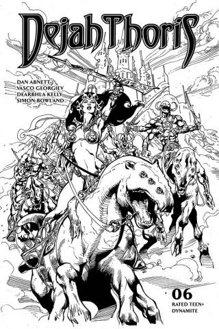 Dejah Thoris #6 (7 Copy Castro B&W Cover)