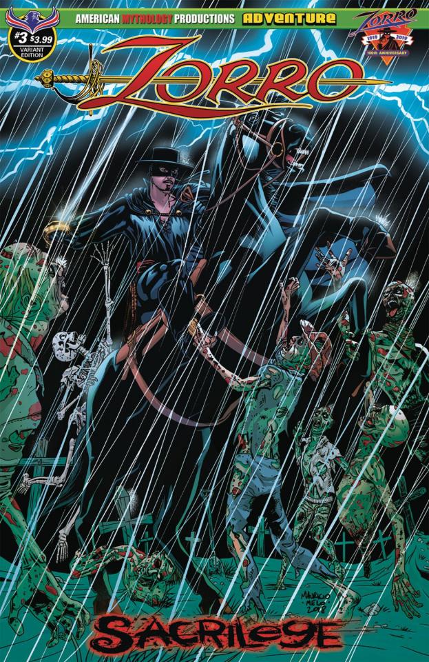 Zorro: Sacrilege #3 (Dead Storm Rising Melo Cover)