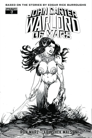John Carter: Warlord of Mars #7 (10 Copy Sears B&W Cover)