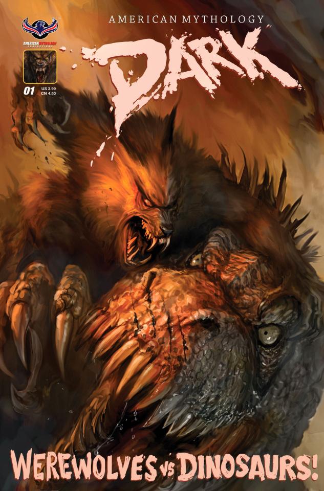 American Mythology Dark: Werewolves vs. Dinosaurs #1 (Ferocious Cover)