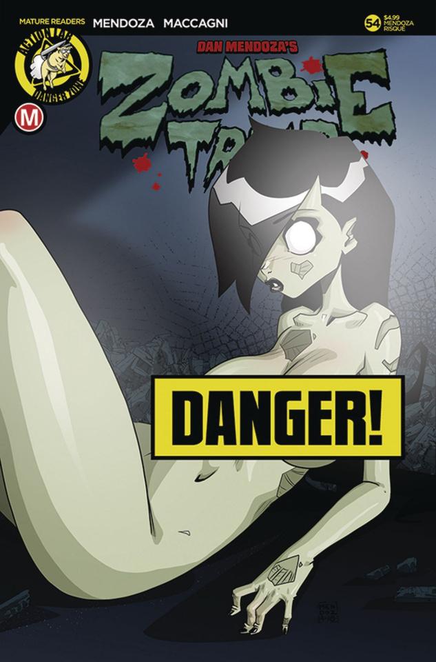 Zombie Tramp #54 (Mendoza Risque Cover)