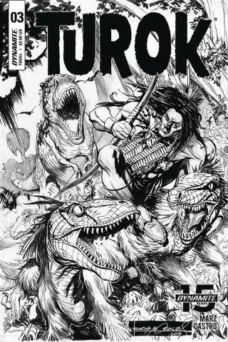 Turok #3 (10 Copy Morales B&W Cover)