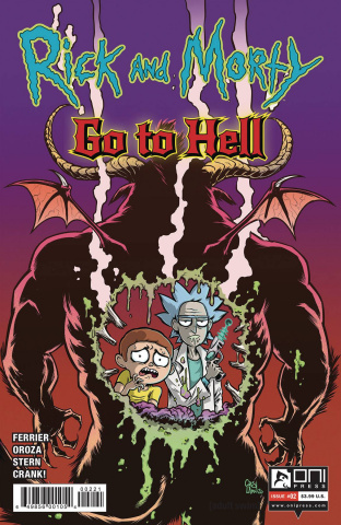 Rick and Morty Go to Hell #2 (Crosland Cover)