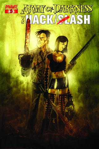 Army of Darkness vs. Hack/Slash #5 (Mitten Cover)