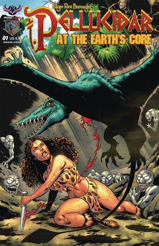 Pellucidar: Terror at the Earth's Core #1 (Bonk Savage Cover)