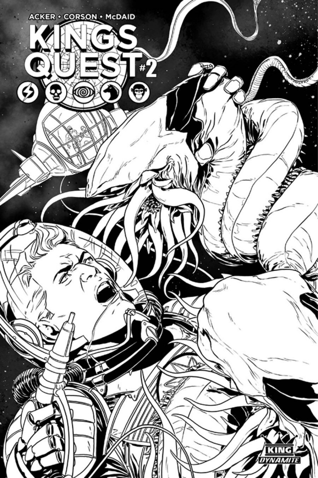 Kings Quest #2 (10 Copy Laming B&W Cover)
