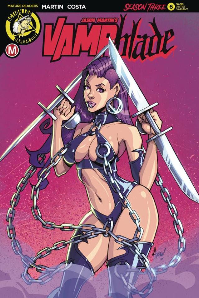 Vampblade, Season Three #6 (Axebone Cover)