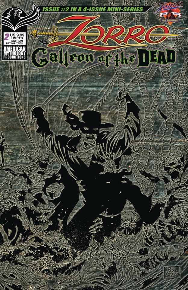 Zorro: Galleon of the Dead #2 (Pulp Cover)