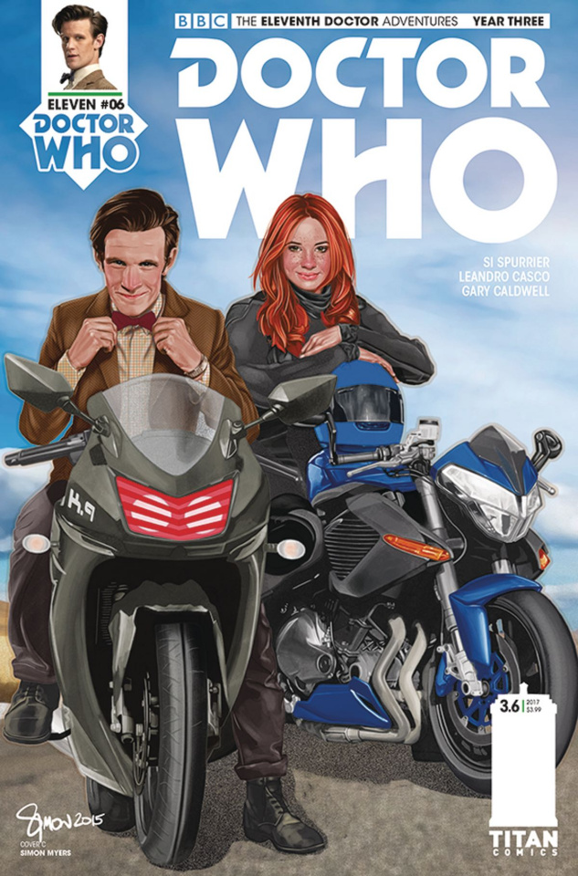 Doctor Who: New Adventures with the Eleventh Doctor, Year Three #6 (Myers Cover)