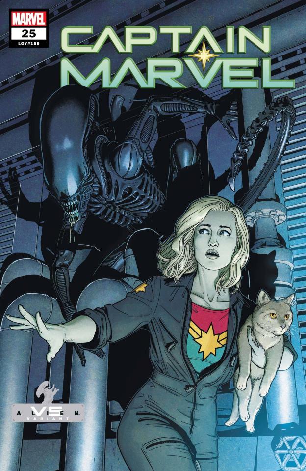 Captain Marvel #25 (McKelvie Marvel vs. Alien Cover)
