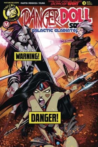 Danger Doll Squad: Galactic Gladiators #3 (Celor Risque Cover)