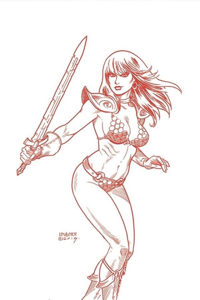 Red Sonja #14 (30 Copy Linsner Tint Virgin Cover)