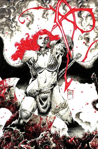 Red Sonja: Black, White, Red #1 (Tan Virgin Cover)