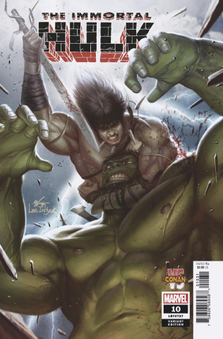 The Immortal Hulk #10 (Inhyuk Lee Conan vs. Marvel Cover)