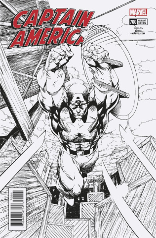 Captain America #700 (Jim Lee Remastered B&W Cover)