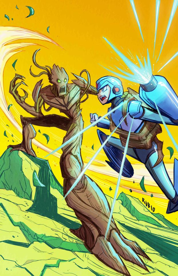 I Am Groot #4 (Rubio Marvel vs. Capcom Cover)