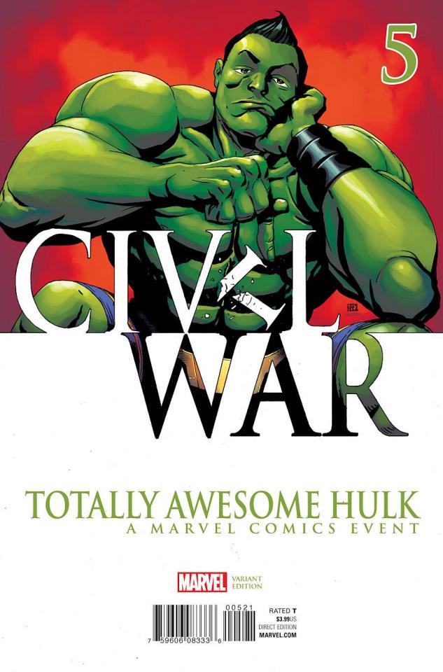 Totally Awesome Hulk #5 (Pham Civil War Cover)