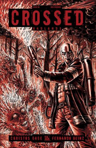 Crossed: Badlands #96 (Red Crossed Cover)