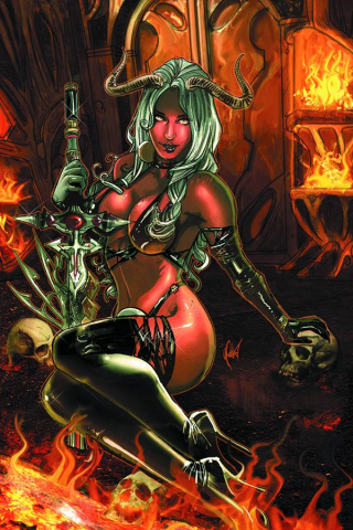 Lady Demon #4 (15 Copy Poulat Virgin Cover)