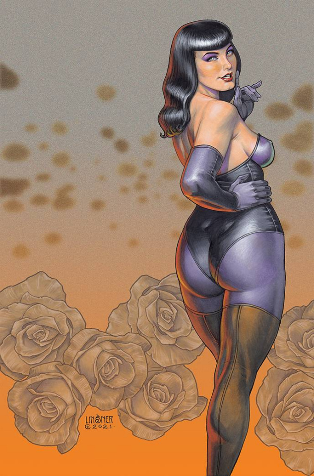 Bettie Page and The Curse of the Banshee #2 (Linsner Virgin Cover)