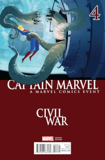 Captain Marvel #4 (Campion Civil War Cover)