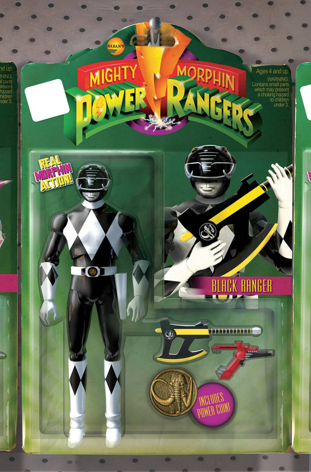 Mighty Morphin' Power Rangers #4 (Unlock Action Figure Cover)