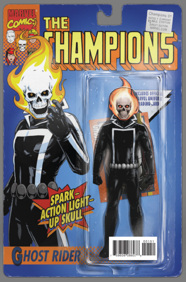 Champions #1 (Christopher Classic Action Figure Cover)