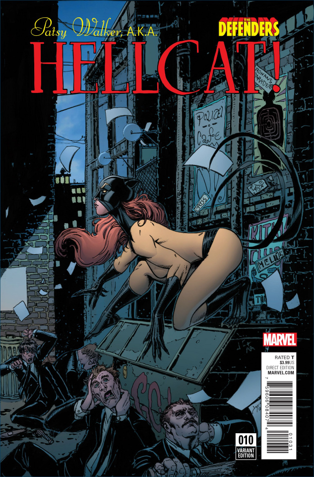 Patsy Walker, a.k.a. Hellcat #10 (Chin Defenders Cover)