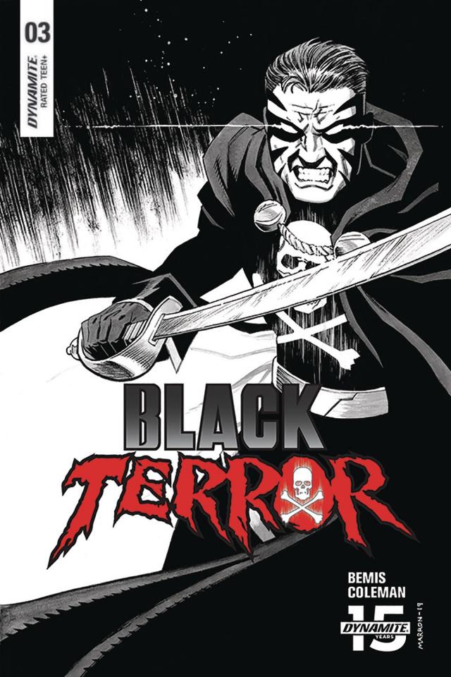 Black Terror #3 (30 Copy Marron B&W Cover)