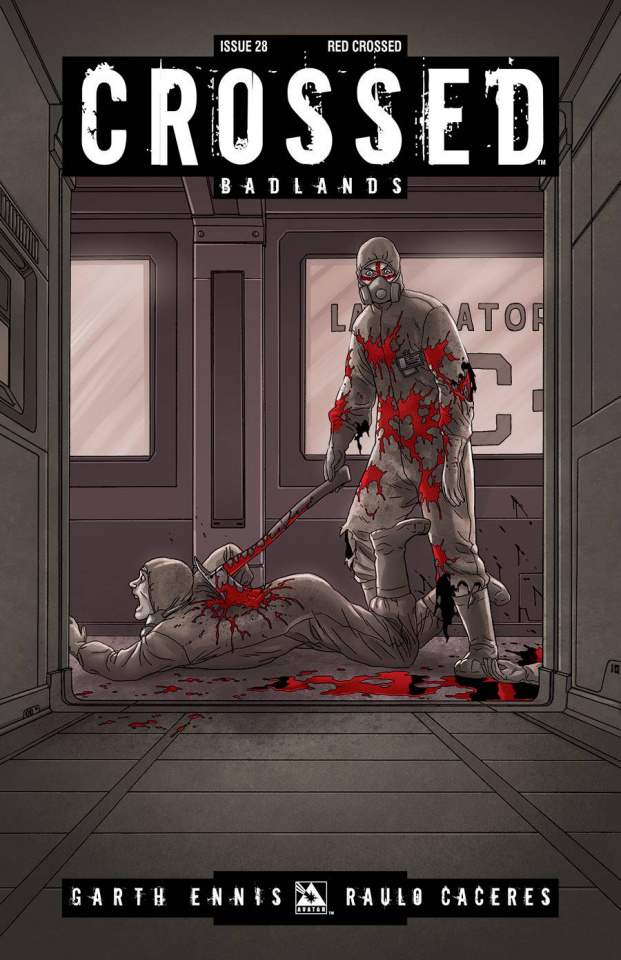 Crossed: Badlands #28 (Red Crossed Cover)