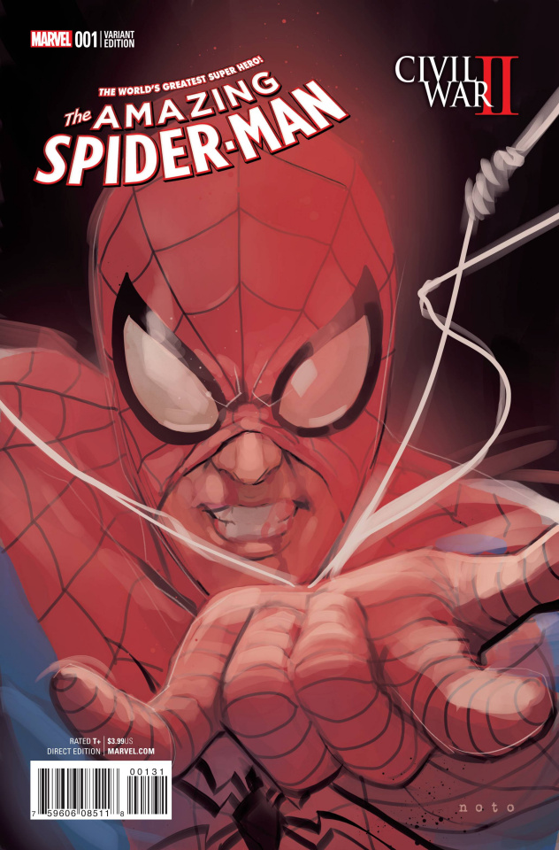 Civil War II: Amazing Spider-Man #1 (Noto Character Cover)