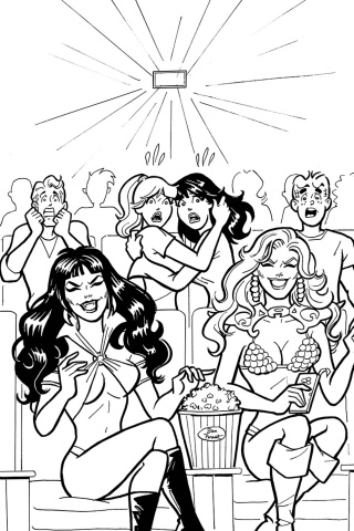 Red Sonja and Vampirella Meet Betty and Veronica #7 (11 Copy Parent B&W Cover)