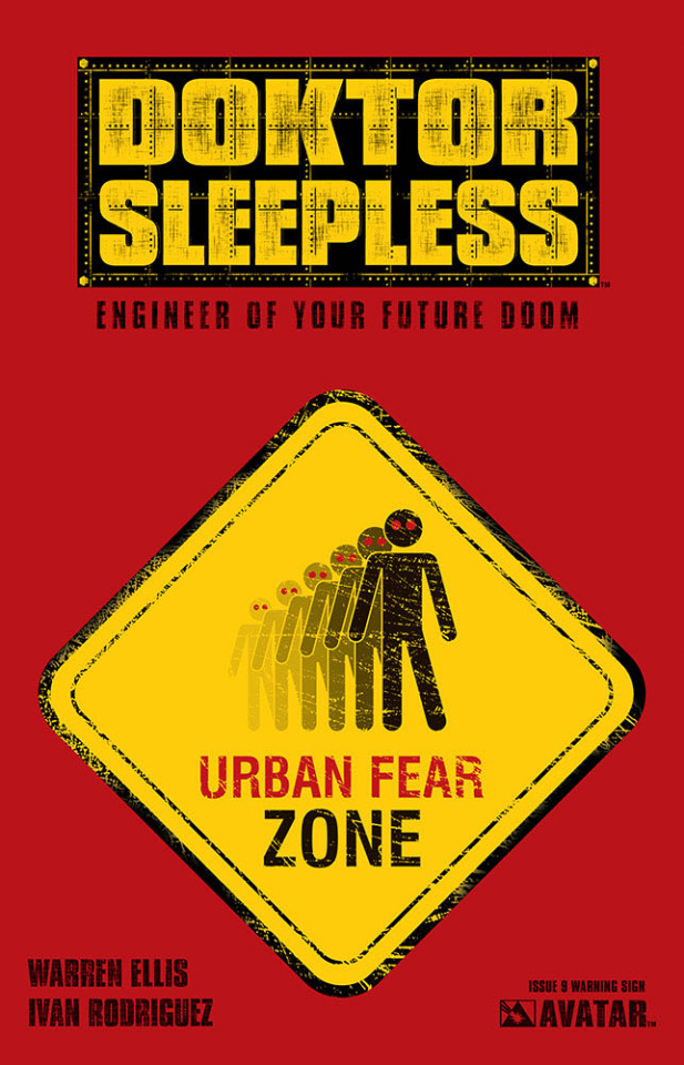 Doktor Sleepless #9 (Warning Sign Cover)