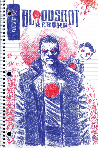Bloodshot: Reborn #10 (100 Copy Linewide Lemire Cover)