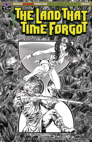 The Land That Time Forgot #1 (Fear On Four Worlds B&W Cover)