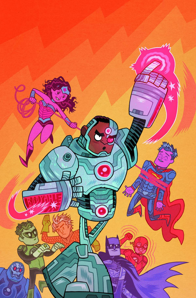 Justice League #42 (Teen Titans Go! Cover)