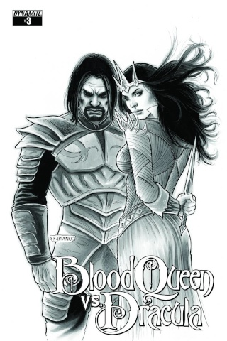 Blood Queen vs. Dracula #3 (15 Copy Neves B&W Cover)
