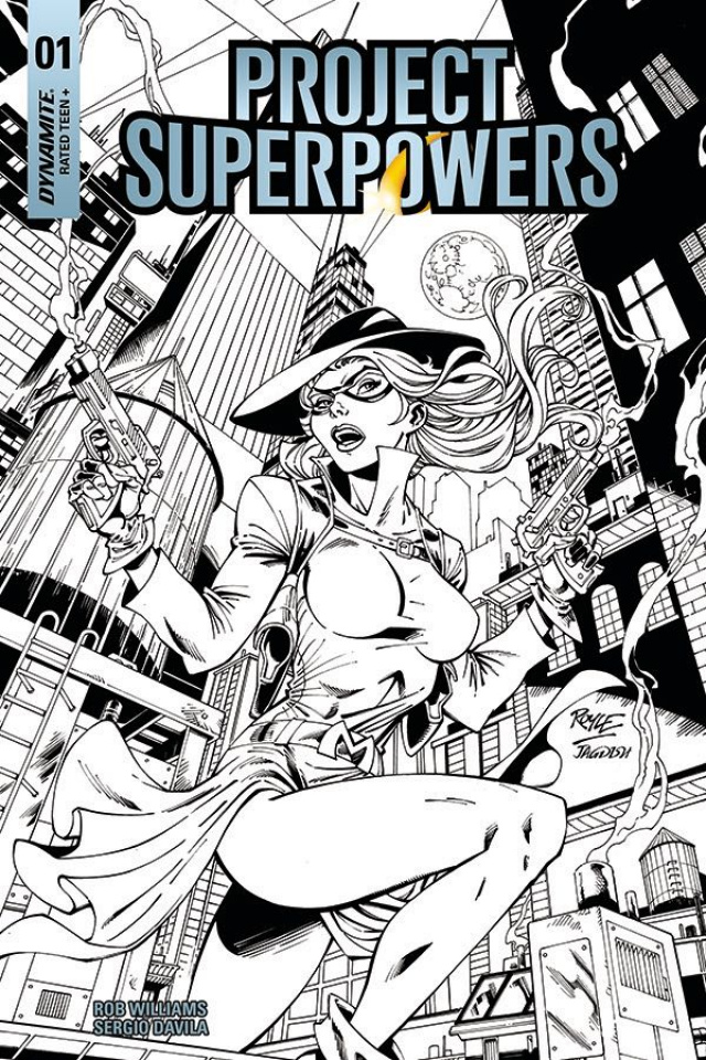 Project Superpowers #1 (Royle B&W Cover)