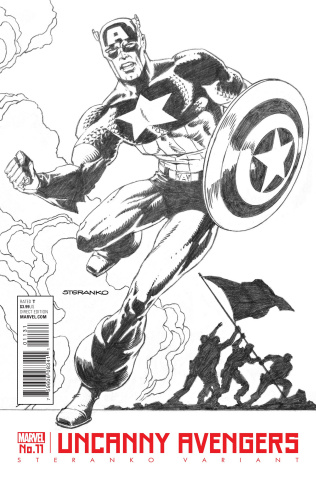 Uncanny Avengers #11 (Steranko Captain America Cover)