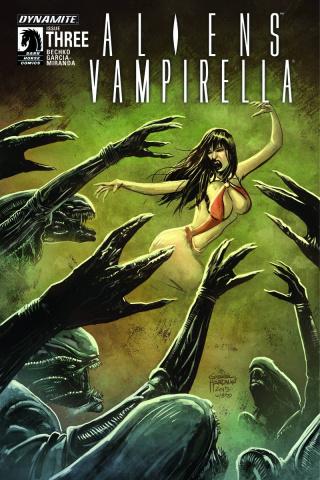 Aliens / Vampirella #3 (Hardman Cover)