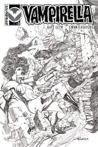 Vampirella #3 (10 Copy Davila B&W Cover)
